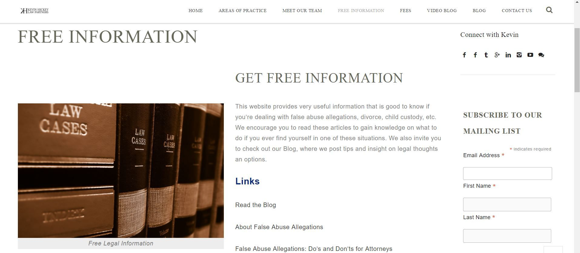 blog page from keving hickey law