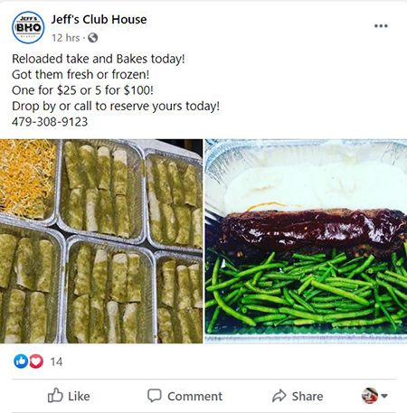 jeffs clubhouse facebook page