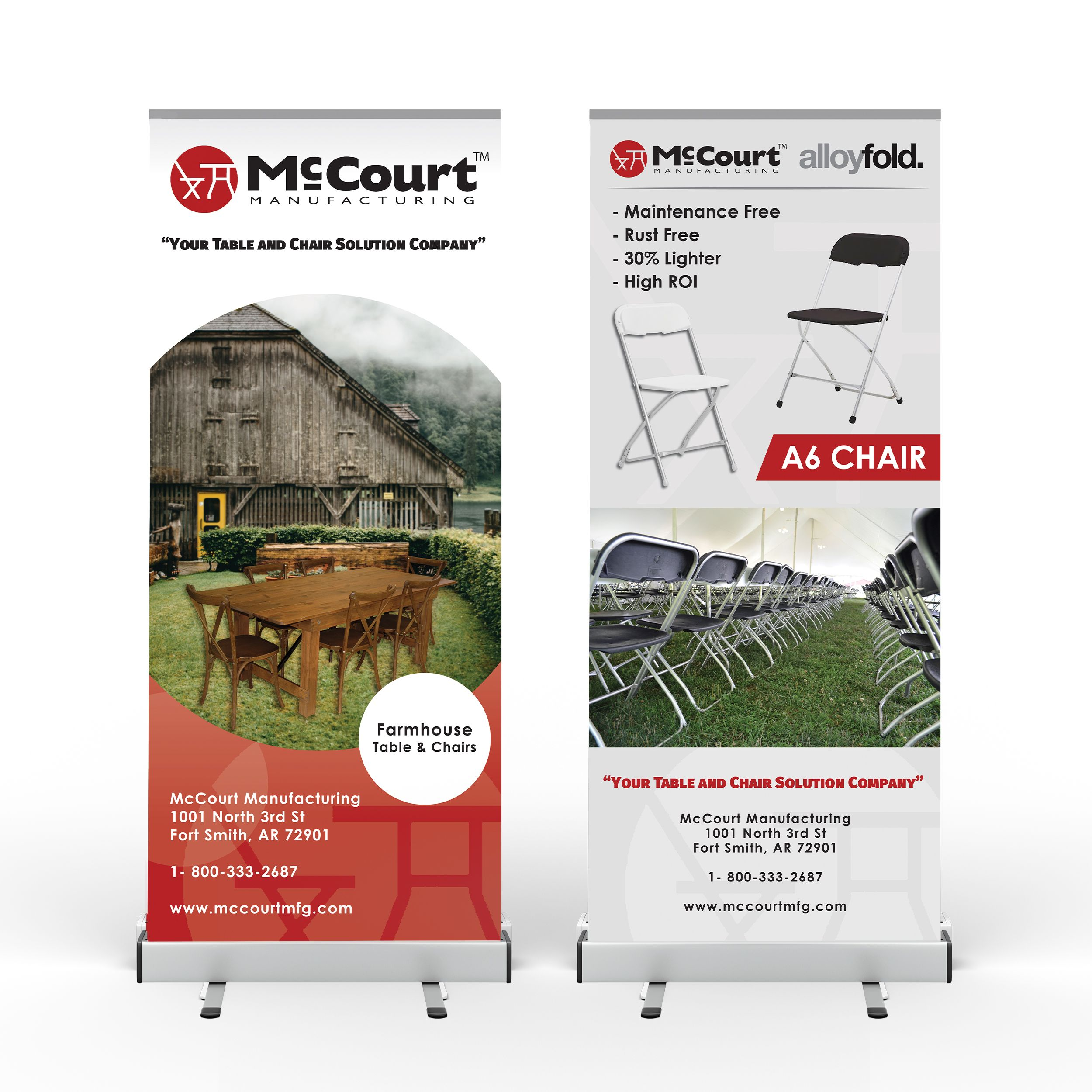 McCourt Roll-Up Banners