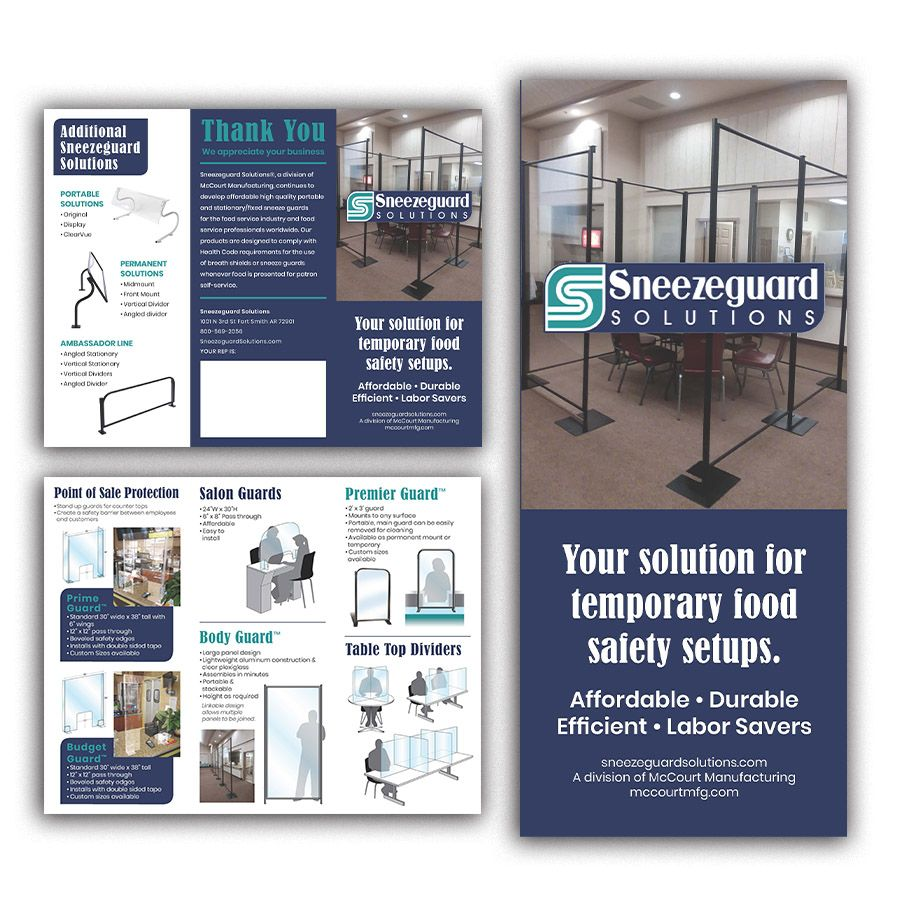 Sneezeguard Solutions trifold