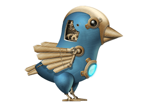 mechanical Twitter bird